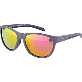 Alpina Nacan II Okulary, nightshade matt-black/purple mirror